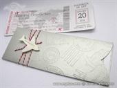 Wedding invitation - Silver Boarding pass