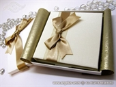 Exclusive greeting card - Golden Bow