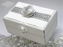 Pad for wedding rings - White Shine box