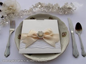 Wedding invitation - Cream Lace Charm