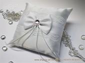 Pad for wedding rings - Romantic White