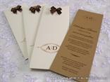 bookmark wedding invitation