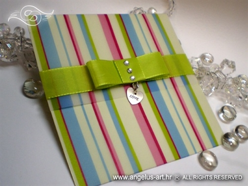 colorful elegant greeting card whith pendant