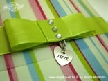 colorful greeting card for various occasions with heart shapped pendant