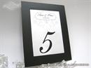 Broj stola za svdbenu svečanost - Black Frame