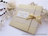 Wedding invitation-Cream Classic Lace Invitation