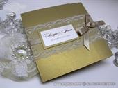 Wedding invitation - Golden Classic Lace Invitation