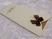 Wedding invitation - Brown Bow Bookmark