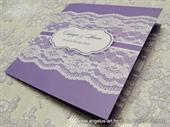 Wedding invitation - Lace Line Colors