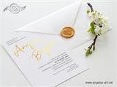 Pozivnica za vjenčanje - Golden Modern Line