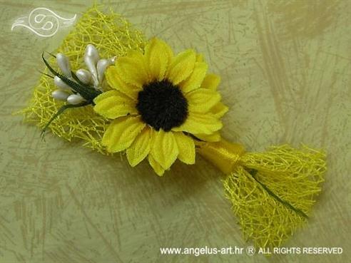 kitica za rever sa žutim suncokretom