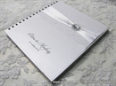 Wedding guestbook - Silver Guestbook