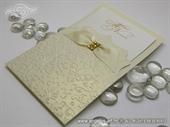 Wedding invitation  cream gold champagne