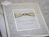 Pozivnica za vjenčanje Per Sempre Cream Pearl