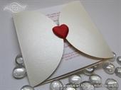 Wedding invitation - Red Heart Diva
