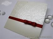 Wedding invitation - Red Bow Charm