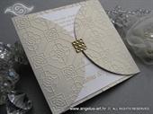 Wedding invitation - Gold Crystal Diva