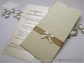 Wedding invitation - Charm Cream Bow