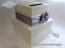 kutija torta za novce sa lila masnom