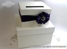 kutija torta za novce sa tamnom lila masnom