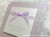Pozivnica za vjenčanje Trendy Lila mašna