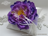 Pad for wedding rings - Lilac Flower ring pillow