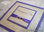 Pozivnica za vjenčanje Per Sempre Royal Purple
