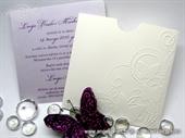 Wedding invitation - White Butterfly Charm