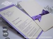 Pozivnica za vjenčanje Purple Dots Charm