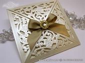 Wedding invitation - Luxury Cream Beauty