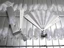 fan luxury white wedding invitations