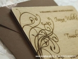 natur pozivnica s kuvertom i gravurom