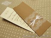 Wedding invitation-VINTAGE BOOKMARK LACE