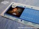 Plava obavijest o rođenju djeteta s fotografijom - Obavijest 7