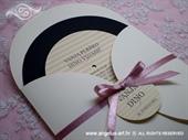 Pozivnica za vjenčanje Pink Round Joy