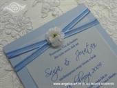 Pozivnica za krštenje - Simple Blue