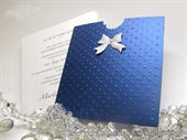 Wedding invitaion-Blue Charm Dots