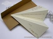 Wedding invitation - Cream Paper Plane
