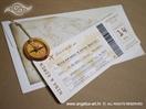 pozivnica avionska karta sa omotnicom i kompasom