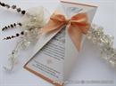 Wedding invitation - Lovely Peach Letter