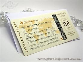 pozivnica kao avionska karta neobicna pozivnica