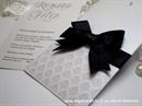 Pozivnica za vjenčanje Black Bow Charm
