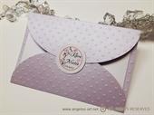 Pozivnica za vjenčanje Lilac Flower Divas