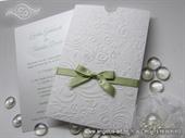 Wedding invitatio - White and Green Charm