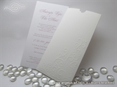 Wedding initation - Charm White Swirl