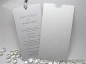 Wedding invitation -  Charm White and Silver