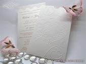Wedding invitation - Charm Cream Heart