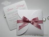 Wedding invitation - Pink Bow Mini Beauty