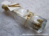 Pozivnica za vjenčanje Poruka u boci - Zlatni prsten