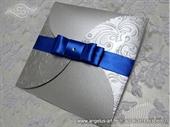 Wedding invitation - Blue & Silver Beauty